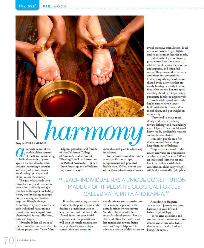 Ayurveda: In Harmony