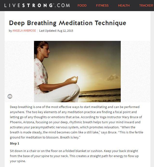 Deep Breathing Meditation Technique